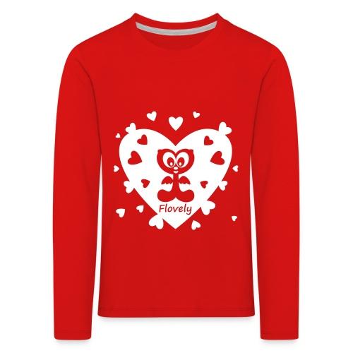 Flovely Herz - Kinder Premium Langarmshirt