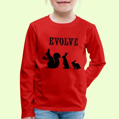 EvolveBunny - Kinderen Premium shirt met lange mouwen