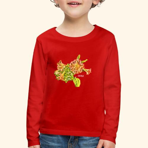 Trompetenbaum Blüten von S.A.R.A. - Kinder Premium Langarmshirt