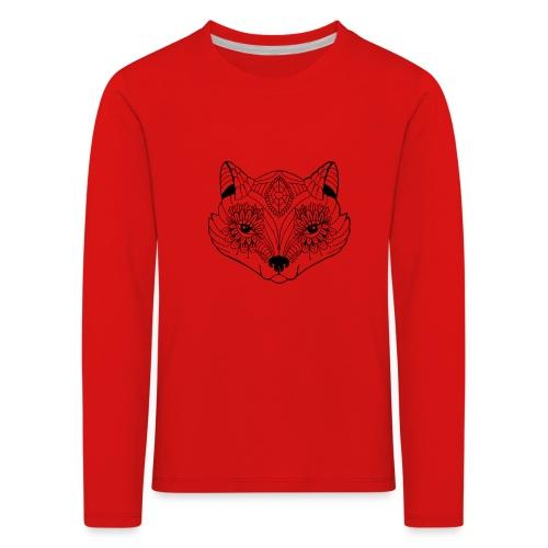 mandalafox - Lasten premium pitkähihainen t-paita