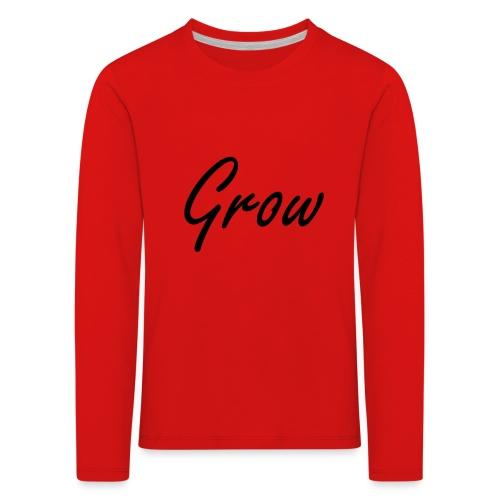 Grow - Kinder Premium Langarmshirt