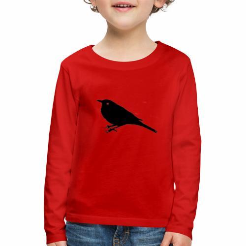 Amsel Logo - Kinder Premium Langarmshirt