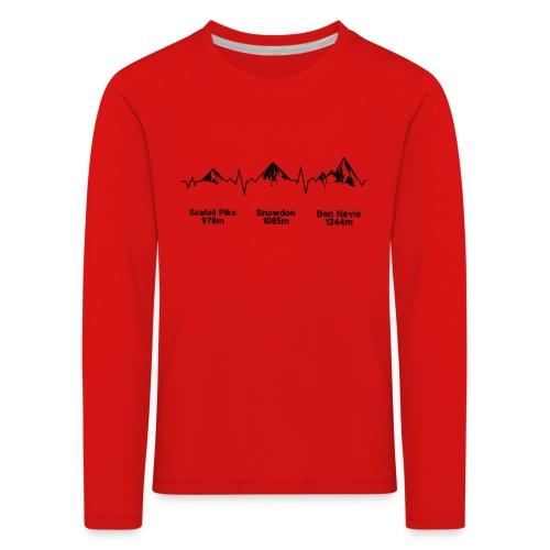 ECG Thee Peaks Light Background - Kids' Premium Longsleeve Shirt