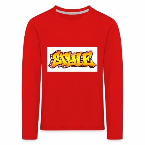 Camiseta estilo - Camiseta de manga larga premium niño