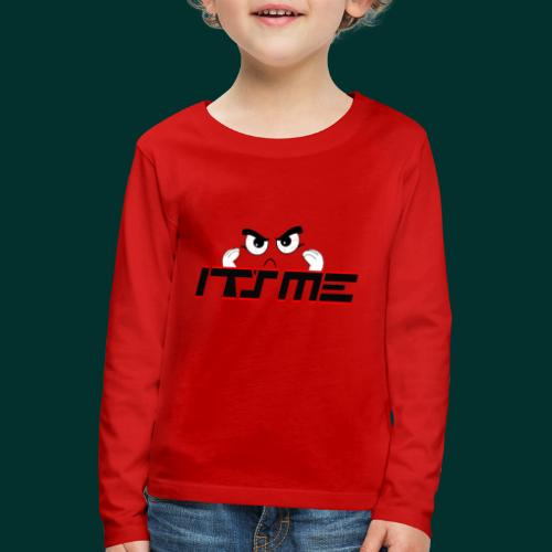 Faccia arrabbiata - Maglietta Premium a manica lunga per bambini