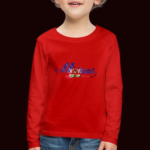 méchant drapeau haïtien - T-shirt manches longues Premium Enfant