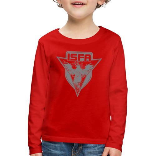 isfa logo 1c grau - Kinder Premium Langarmshirt