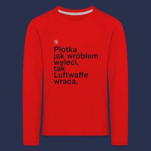 PLOTKA - napis ciemny - Koszulka dziecięca Premium z długim rękawem