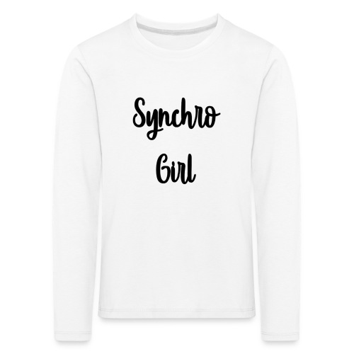 Synchro Girl - Lasten premium pitkähihainen t-paita