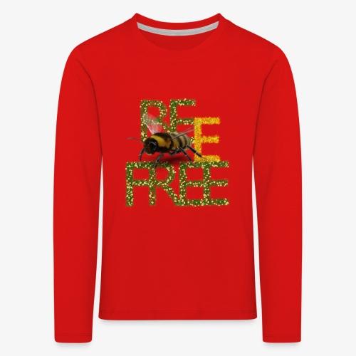 bee free bądż wolna wolny - Koszulka dziecięca Premium z długim rękawem