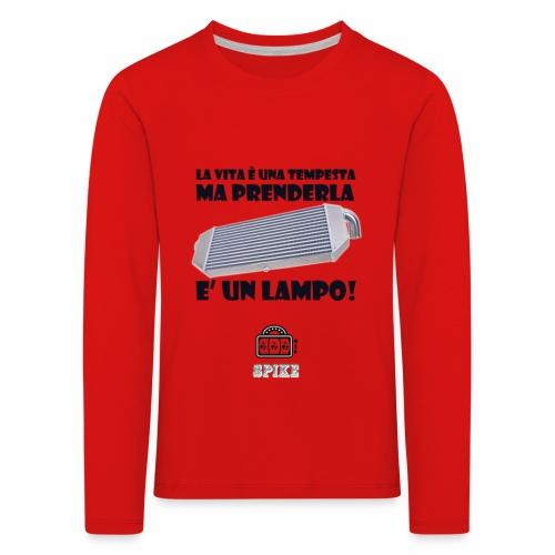 INTERCOOLER (nero) - Maglietta Premium a manica lunga per bambini
