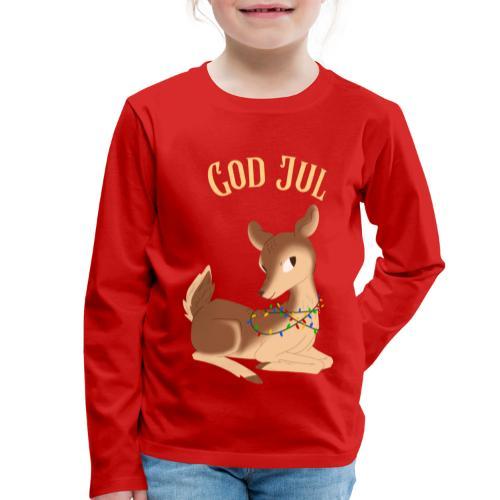 God Jul - Premium langermet T-skjorte for barn