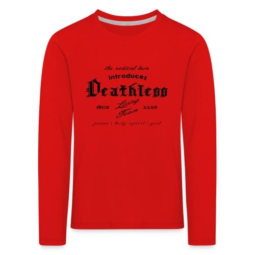 deathless living team schwarz - Kinder Premium Langarmshirt