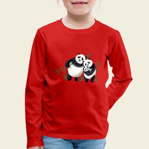 Pandafamilie Baby - Kinder Premium Langarmshirt