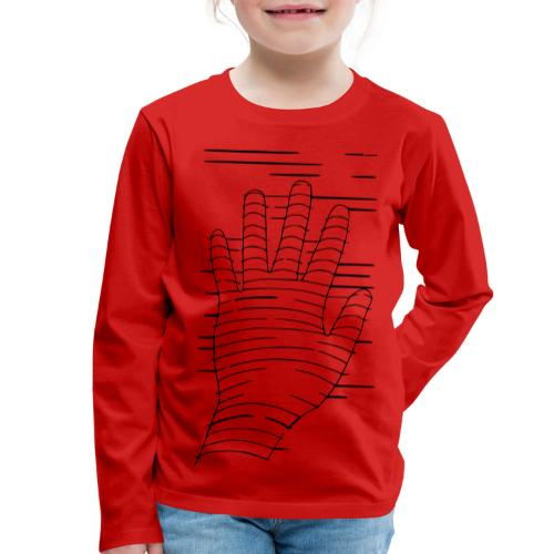 Eigene Hand - Kinder Premium Langarmshirt