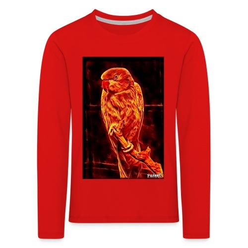 Bird in flames - Lasten premium pitkähihainen t-paita