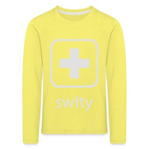 Schweizerkreuz-Kappe (swity) - Kinder Premium Langarmshirt