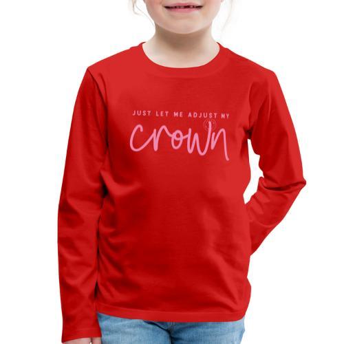 Crown pink - Kids' Premium Longsleeve Shirt