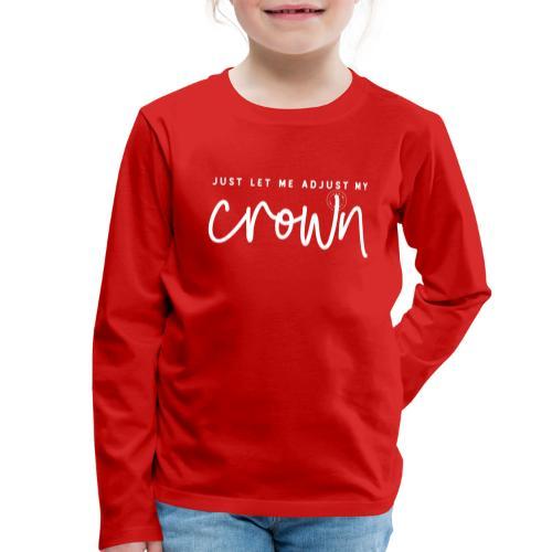 Crown white - Kids' Premium Longsleeve Shirt