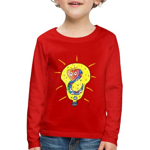 Happy Questionsnake - Kinder Premium Langarmshirt