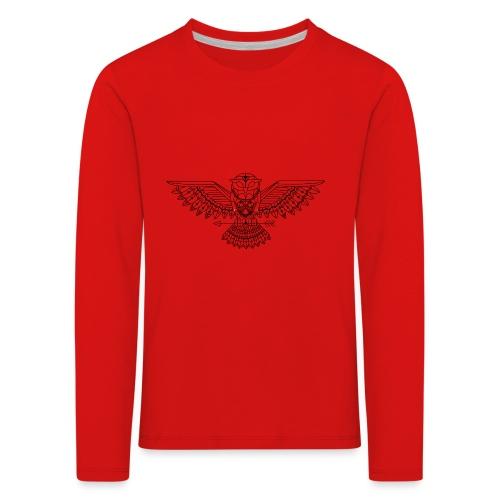 Grafische uil - Kinderen Premium shirt met lange mouwen