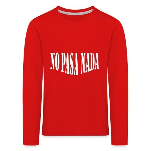 scritta per maglione png BIANCO - Maglietta Premium a manica lunga per bambini