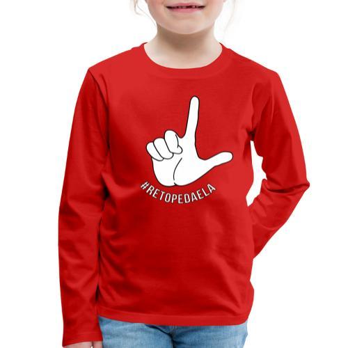 Dedo Big - #RetoPedaEla - Camiseta de manga larga premium niño