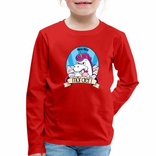 Murder Unicorn - Kinder Premium Langarmshirt