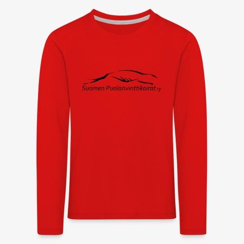SUP logo musta - Lasten premium pitkähihainen t-paita