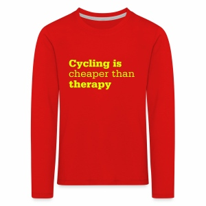 Cycling is therapy - Kinder Premium Langarmshirt