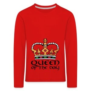 Queen of the day - Kinder Premium Langarmshirt