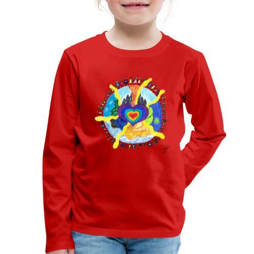 Herzwelt - Kinder Premium Langarmshirt