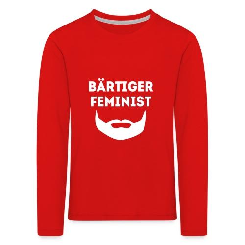 Bärtiger Feminist Kids - Kinder Premium Langarmshirt