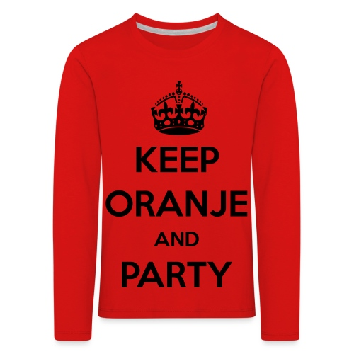 KEEP ORANJE AND PARTY - Kinderen Premium shirt met lange mouwen