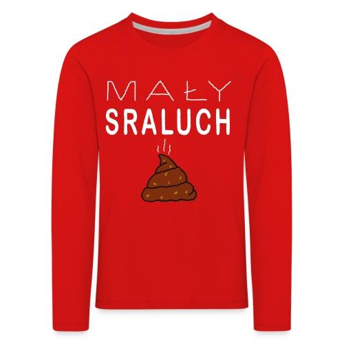 Mały sraluch - Koszulka dziecięca Premium z długim rękawem