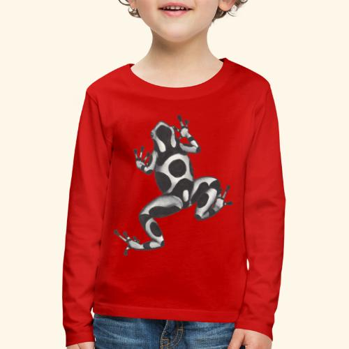 Svartvit groda - Långärmad premium-T-shirt barn