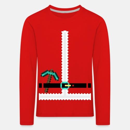 Santa Suit Pixel Art - Kids' Premium Longsleeve Shirt