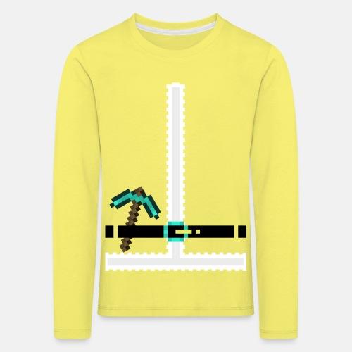 Santa Suit Pixelart - Kinder Premium Langarmshirt