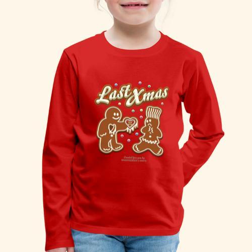 Last Christmas Lebkuchenmann - Kinder Premium Langarmshirt