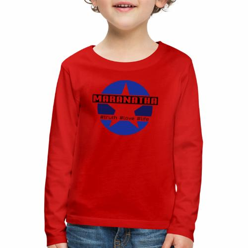 maranatha blau-braun - Kinder Premium Langarmshirt