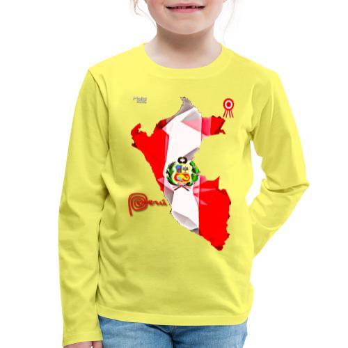 Mapa del Peru, Bandera y Escarapela - Kids' Premium Longsleeve Shirt
