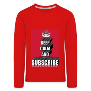 keep calm and subscribe logo - Kids' Premium Longsleeve Shirt