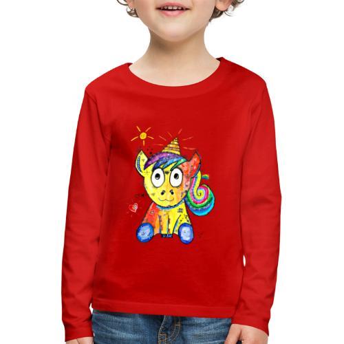 Happy Unicorn - Kinder Premium Langarmshirt