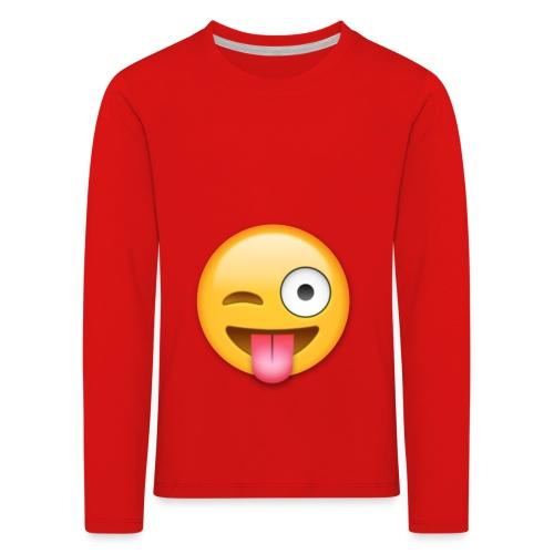 Winking Face - Kinder Premium Langarmshirt