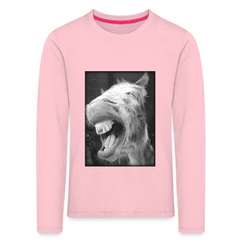 lachender Esel - Kinder Premium Langarmshirt