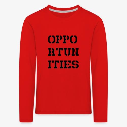 Opportunities - Gelegenheiten - schwarz - Kinder Premium Langarmshirt