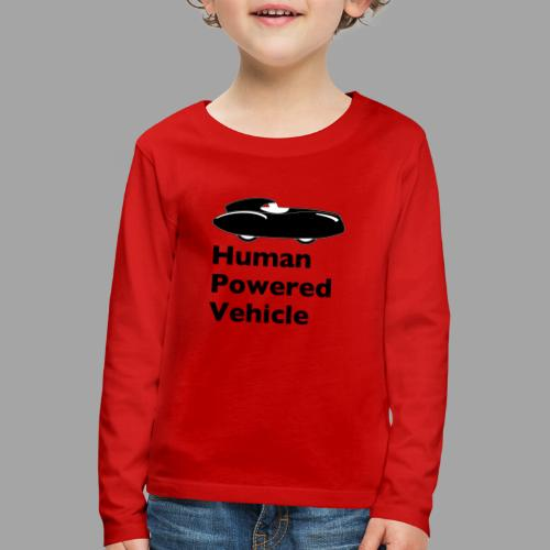 Quattrovelo Human Powered Vehicle black - Lasten premium pitkähihainen t-paita
