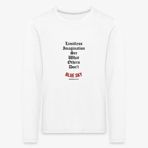 Limitless Imagination Zwart - Kinderen Premium shirt met lange mouwen