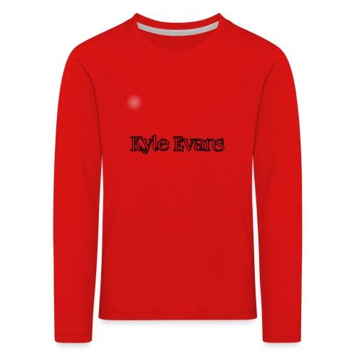 KYLE EVANS TEXT T-SHIRT - Kids' Premium Longsleeve Shirt