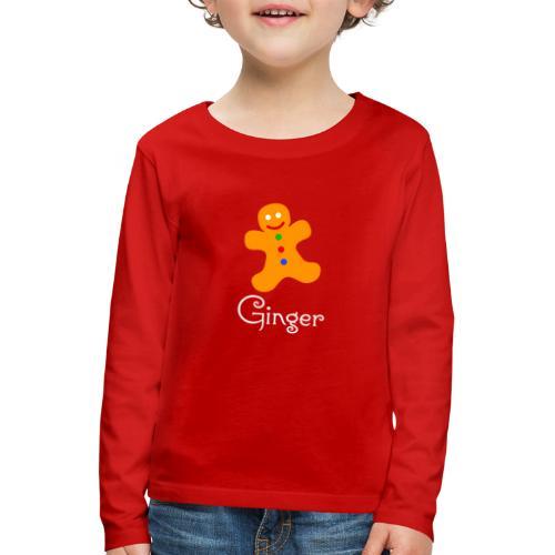 Gingerbread Man - Kids' Premium Longsleeve Shirt